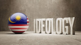 Malaysia. Ideology  Concept. poster