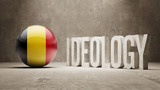 Belgium. Ideology  Concept. poster