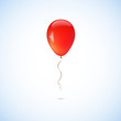 Red balloon isolated on white background - 77803757