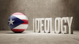 Puerto Rico. Ideology  Concept. poster