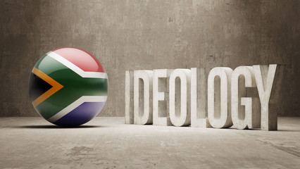 South Africa. Ideology  Concept.