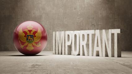 Montenegro. Important  Concept.