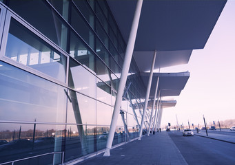modern airport terminal,industrial architecture