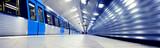 Train arriving to subway station platform - 77804377