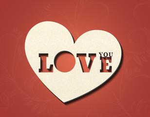 Love You - Herz - Ornament
