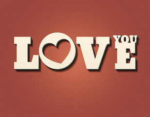 Love You - Herz - P