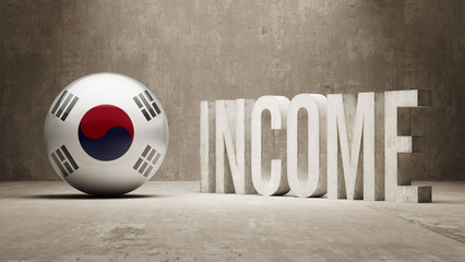South Korea. Income  Concept.