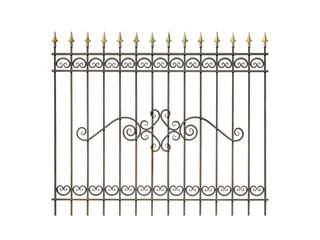 Decorative fence for the park, garden and at home.