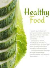 Green cucumber slices