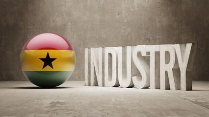 Ghana. Industry Concept.