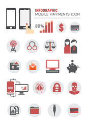 INFOGRAPHIC MOBILE PAYMENTS ICON.