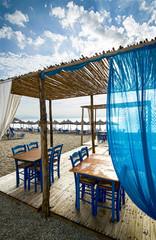 Greek tavern on beach
