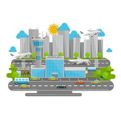 Processes airport flat city