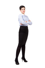 Young confident business woman posing