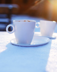 Cups of Coffe with beautiful view