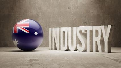 Australia. Industry Concept.