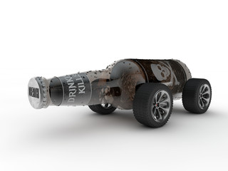 Bottle of Alcohol and Car Concept