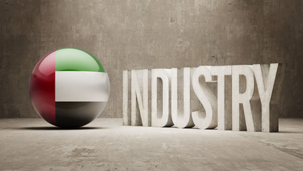 United Arab Emirates. Industry Concept.