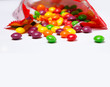 Openned pack with skittles in it - 77808770