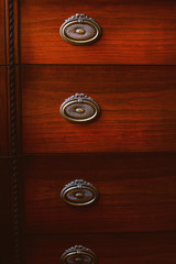 Few lockers of old cupboard