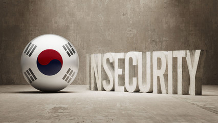South Korea. Insecurity Concept.