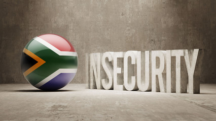 South Africa. Insecurity Concept.