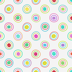 Vector abstract background. Seamless circle pattern