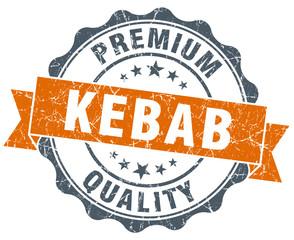 kebab vintage orange seal isolated on white