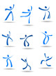 Dancing people icons