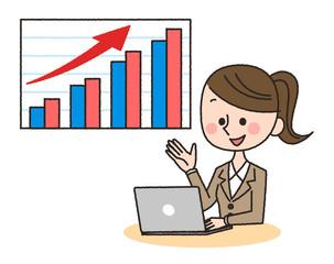 女性 パソコン グラフ