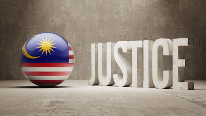 Malaysia. Justice Concept.