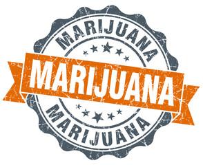 marijuana vintage orange seal isolated on white