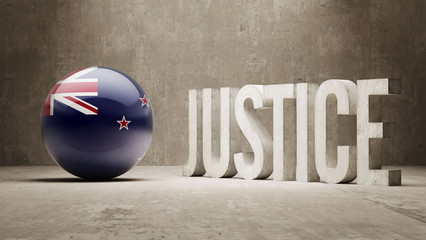 New Zealand. Justice Concept.