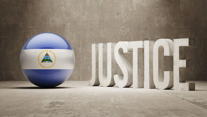 Nicaragua. Justice Concept.