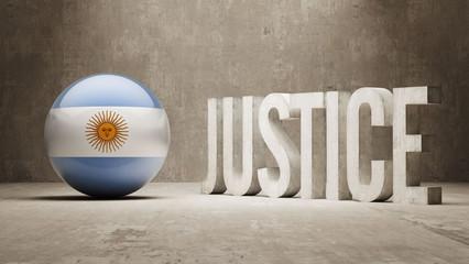 Argentina. Justice Concept.