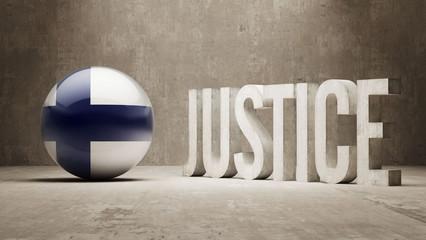 Finland. Justice Concept.
