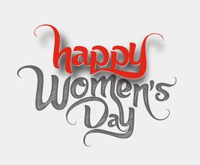 Happy Women's Day Design Element