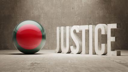 Bangladesh. Justice Concept.