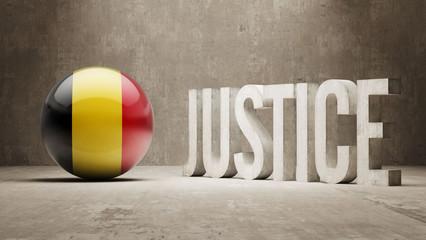 Belgium. Justice Concept.