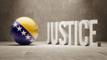 Bosnia and Herzegovina. Justice Concept.