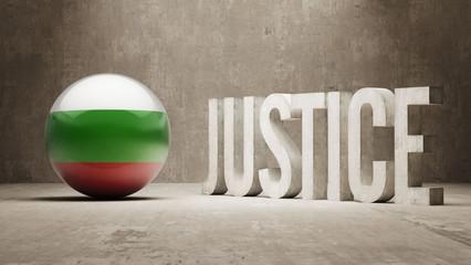 Bulgaria. Justice Concept.