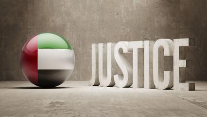 United Arab Emirates. Justice Concept.