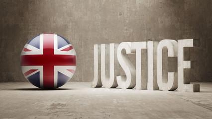 United Kingdom. Justice Concept.