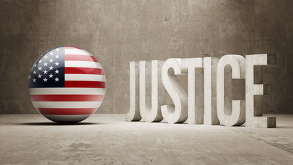 United States. Justice Concept.