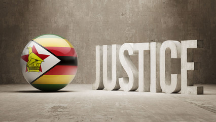 Zimbabwe. Justice Concept.