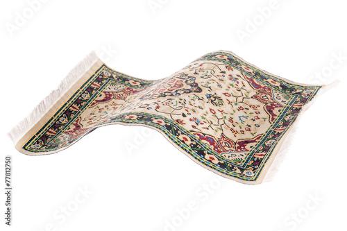 Leinwanddruck Bild Flying magic carpet isolated