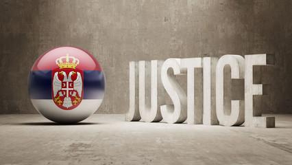 Serbia. Justice Concept.