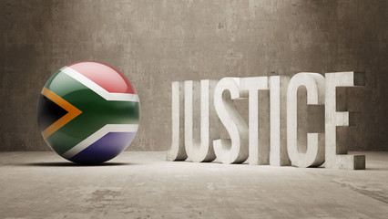 South Africa. Justice Concept.