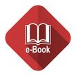 canvas print picture - book flat icon e-book sign