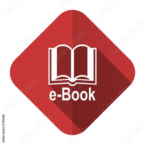 canvas print picture book flat icon e-book sign